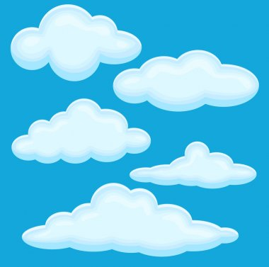 Cloud Vector Illustration Set