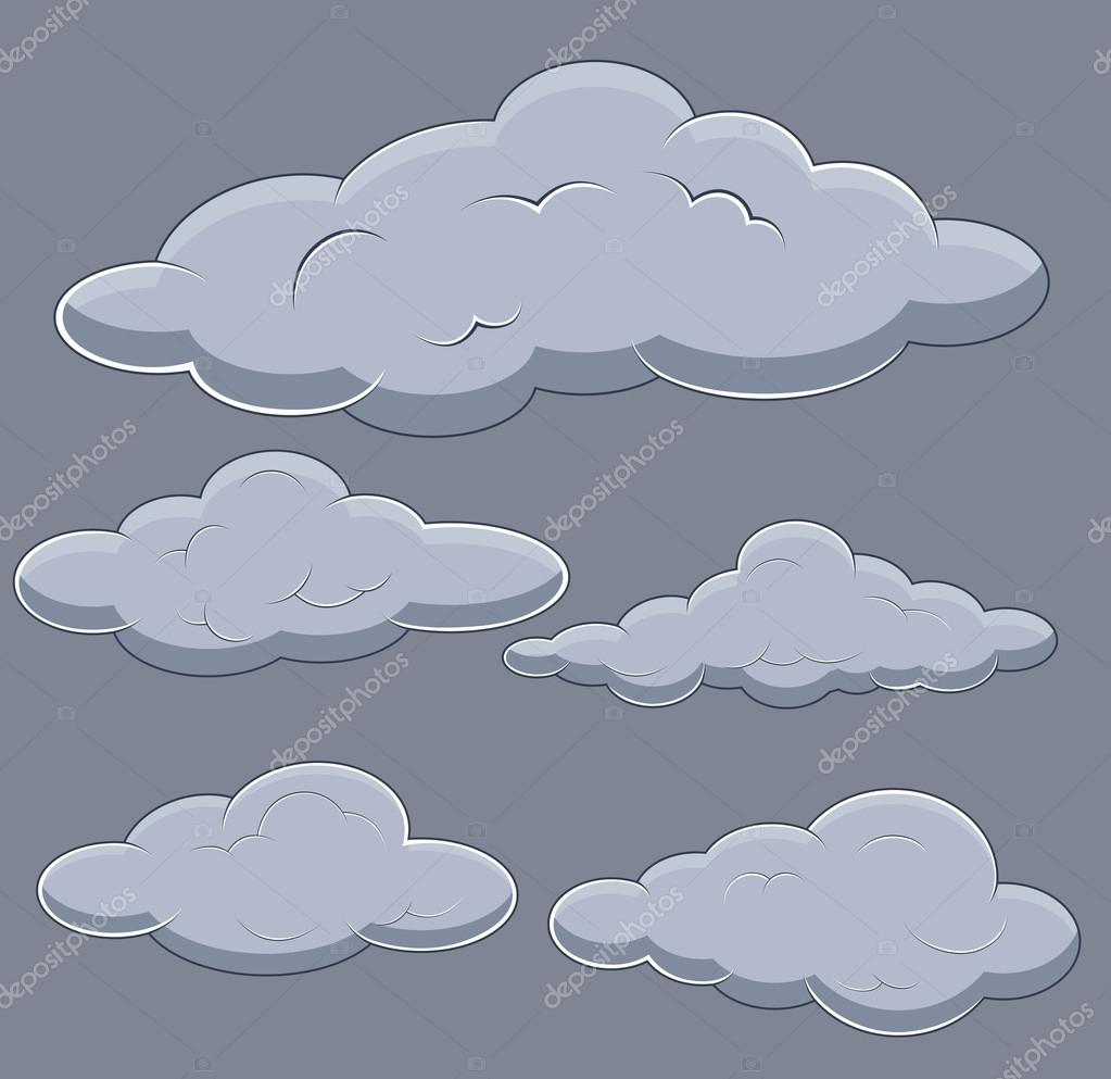 Clouds Vector Illustrations Set