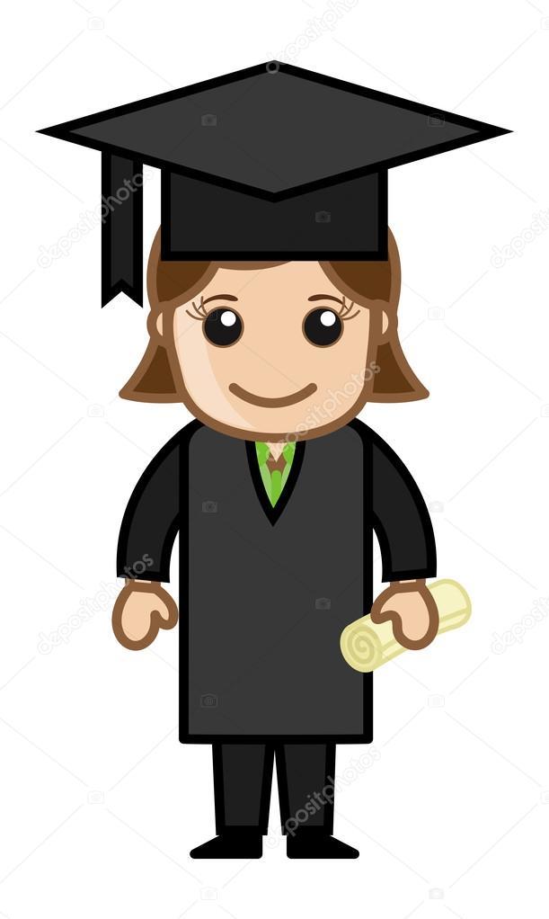 Imágenes Personas Graduadas Animadas Mujer Graduada