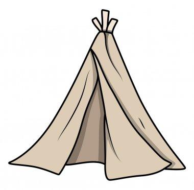 Cartoon Kids Tent - Vector Illustrations