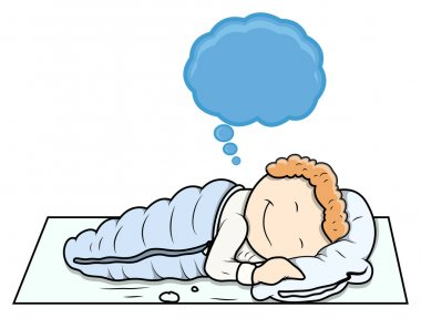 Kid Dreaming - Cartoon Vector