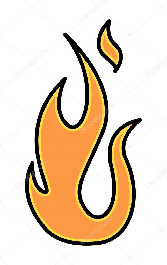 Simple Feu Flamme Illustration Vectorielle Image Vectorielle
