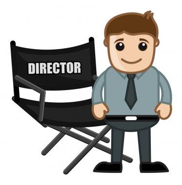Director Chair - Business Cartoons Vectors