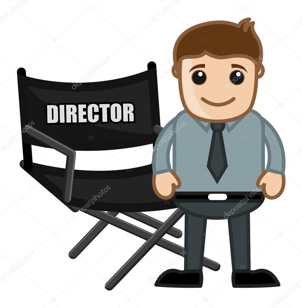 Silla de director negocios dibujos animados vectores for Silla de director