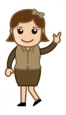 Intelligent Lady - Business Cartoon Character Vector