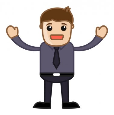 Going to Cry - Business Cartoon Character Vector