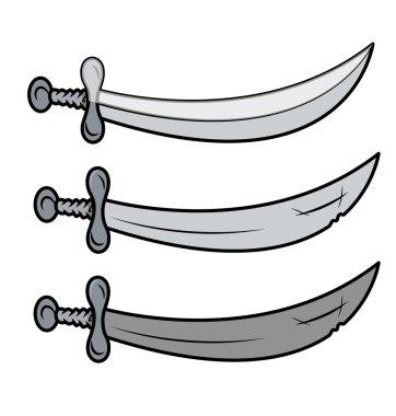 Swords - Vector Cartoon Illustration