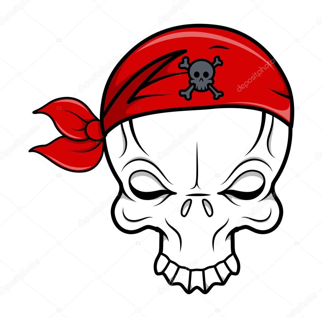 Calaveras Animadas Para Niños Calavera Pirata Ilustración De