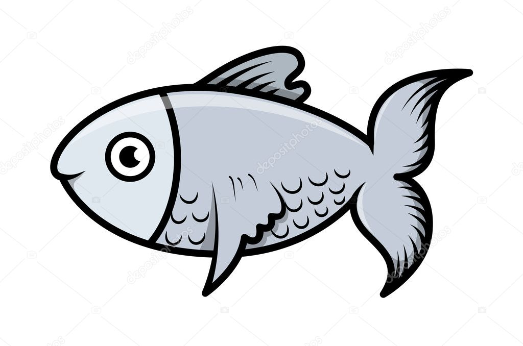 simple cartoon fish illustration stock vector 29805923 - Simple Cartoon Pics