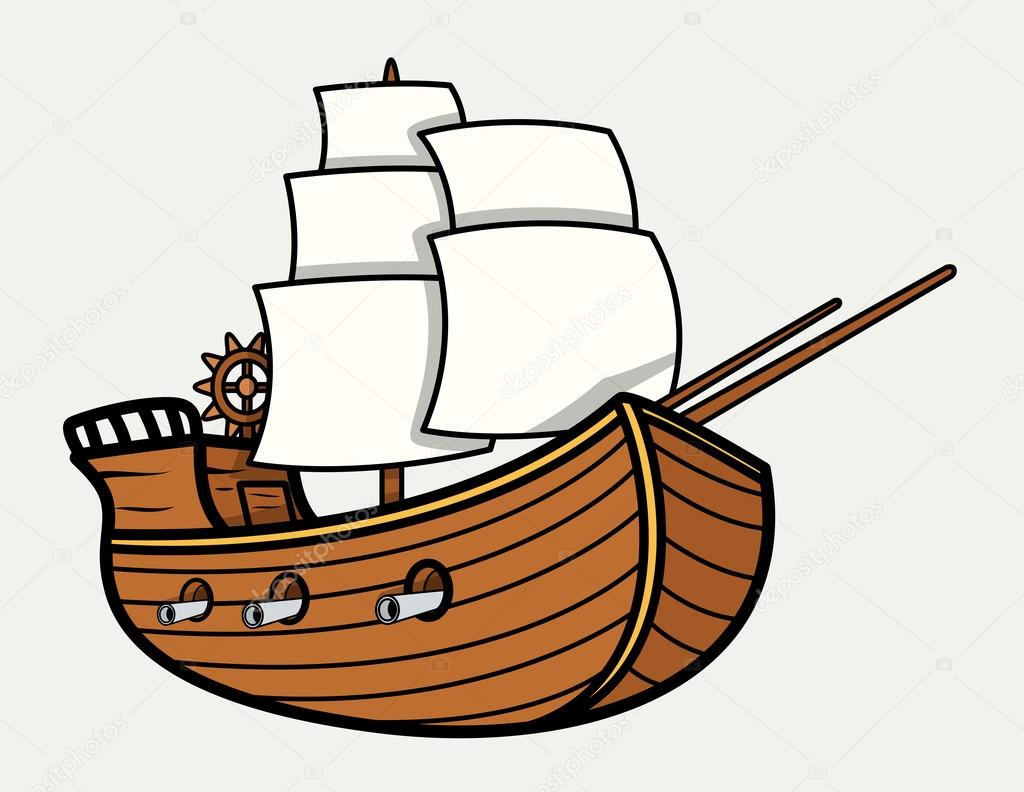 old vintage sea ship vector cartoon illustration stock pirate ship clip art that look real pirate ship clip art black and white