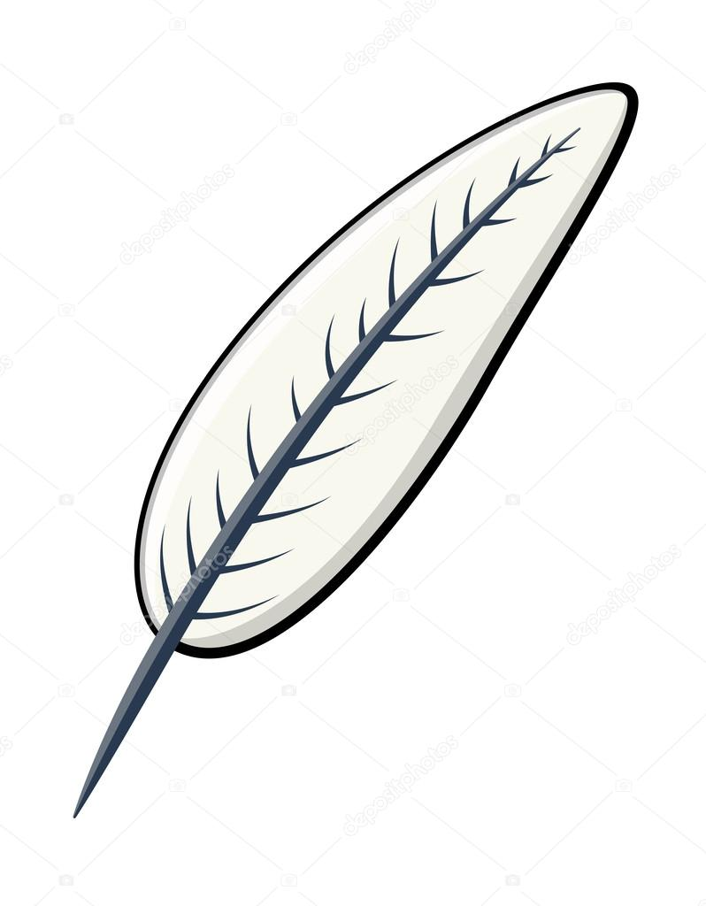 Quill Feather - Cartoon Vector Illustration