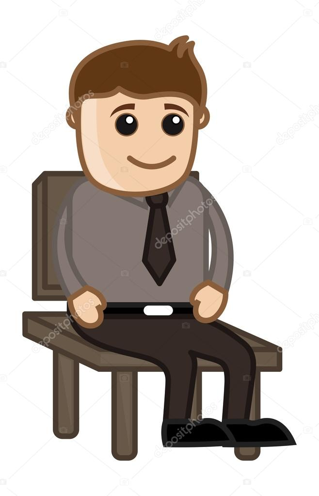 Homme assis sur une chaise gens de bureau corporatif de for Abdos assis sur une chaise