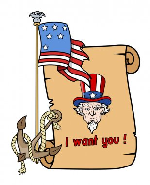 I want you - uncle sam - 4th of july