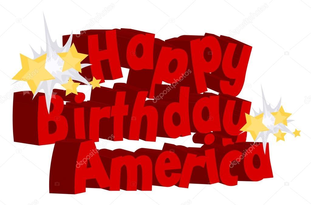 Happy birthday america greeting text vector stock vector baavli happy birthday america greeting text vector stock vector m4hsunfo