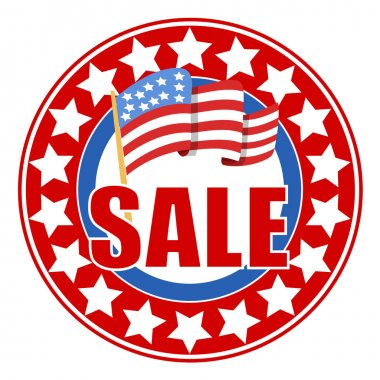 Sale circular vector seal - 4th of july Vector