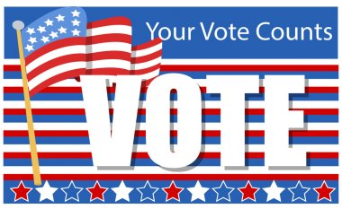 Patriotic - Election Day Vector Illustration - your vote counts