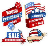 Fényképek Dekoratív Modern Egyesült Államok nemzeti ünnepek - elnökök napja vektor készlet