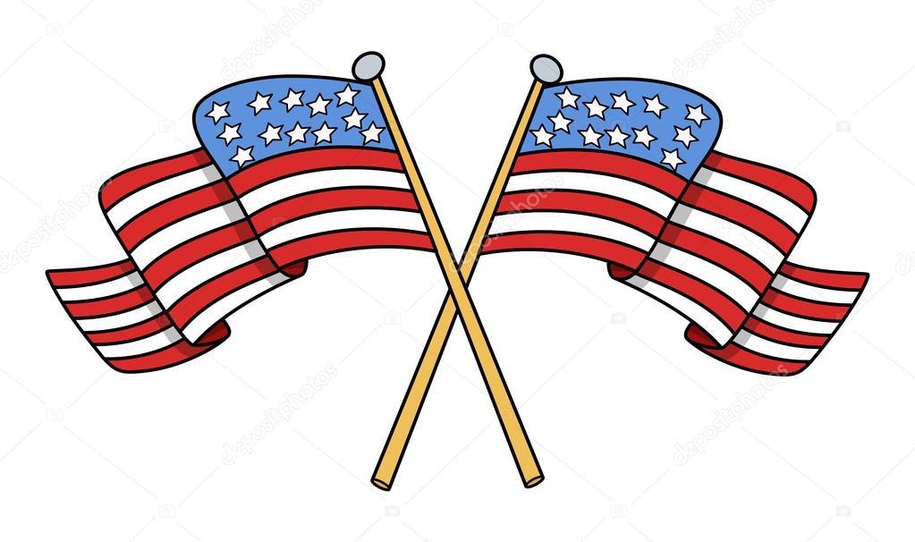 Como Dibujar La Bandera De Estados Unidos Cruzó Las Banderas Del