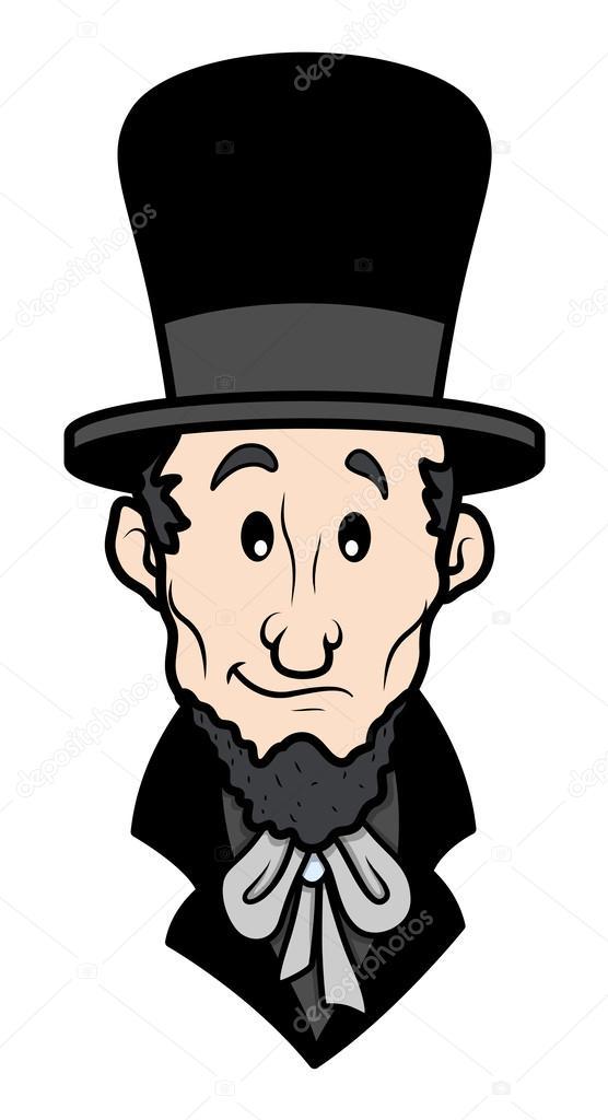 Abraham Lincoln Cartoon Vector Character Stock Vector C Baavli