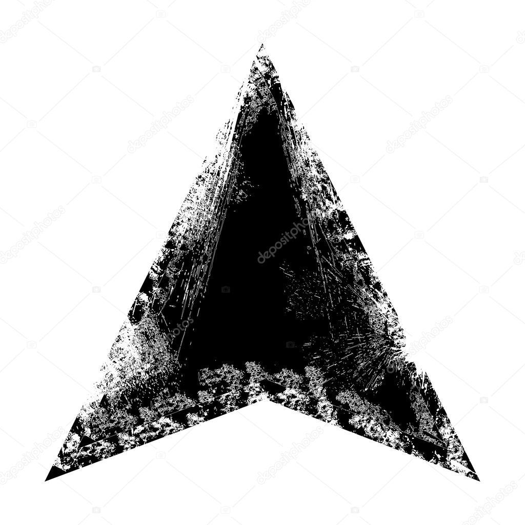 Grunge Triangle Frame Vector Illustration Background — Stock Vector ...