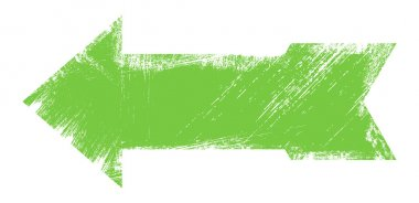 Green Grunge Arrow Vector