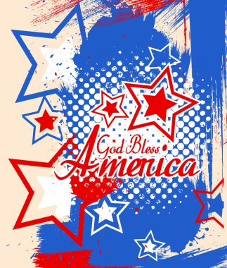 God bless america - 4th of July Vector theme Design