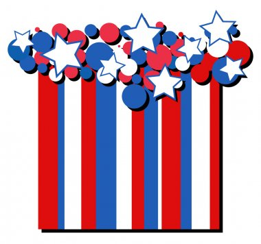 Stars - American themed Independence Day Vector Design background