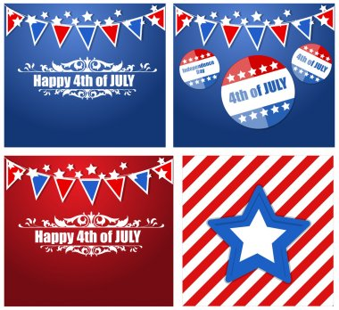 4th of july - Patriotic USA theme Vector