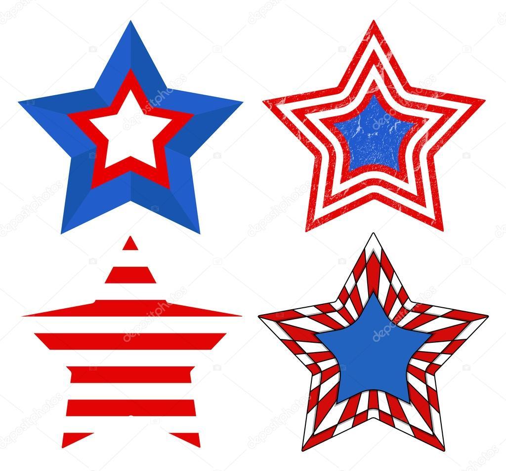 Clipart: patriotism   American Flag style - Patriotic USA ... (1024 x 955 Pixel)