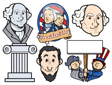 USA National Holidays - Presidents Day Vector Set