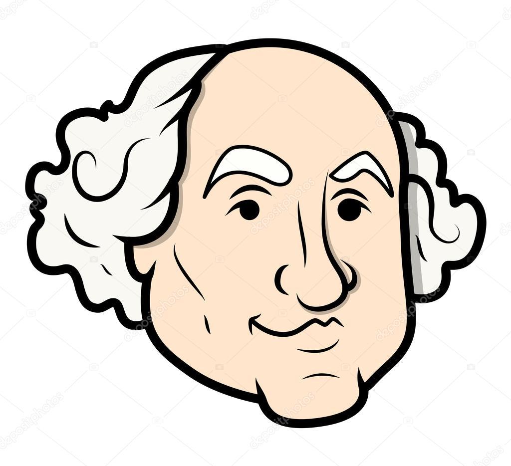George Washington Vector Cartoon Clip Art vectorial — Vector de ...