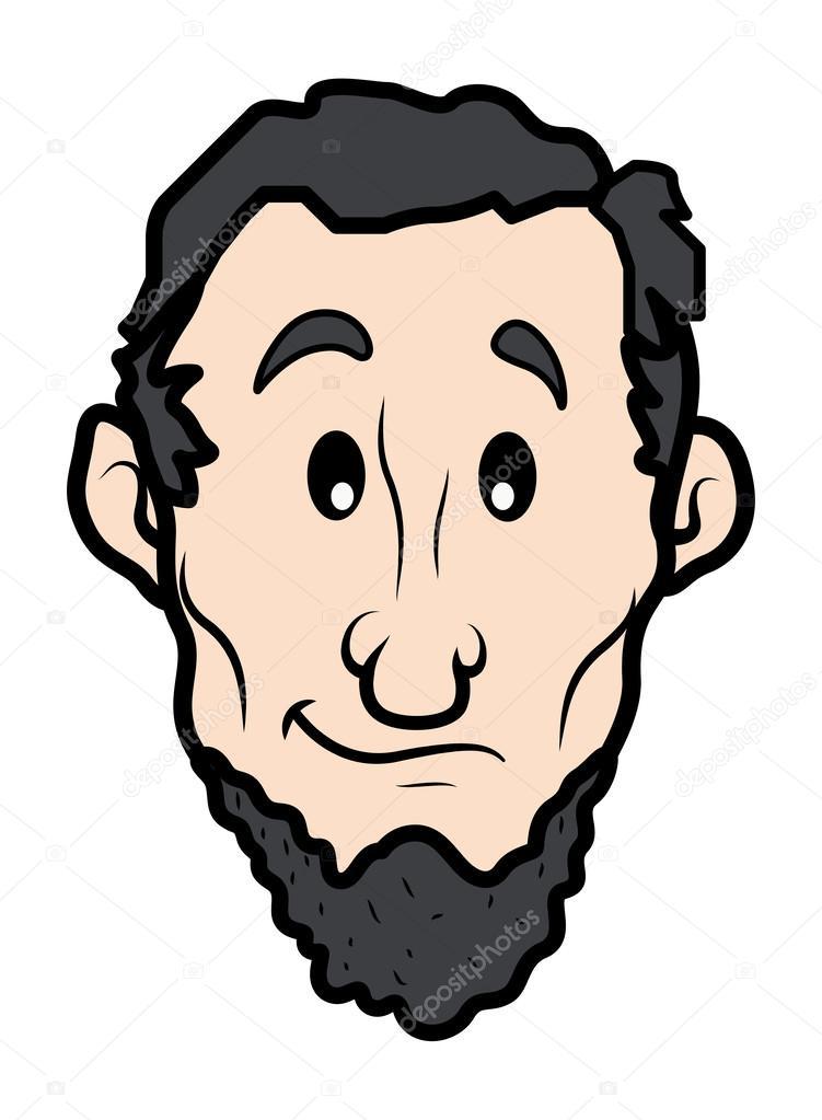 abraham lincoln vector stock vector baavli 31547699 rh depositphotos com abraham lincoln face clipart abraham lincoln clipart free