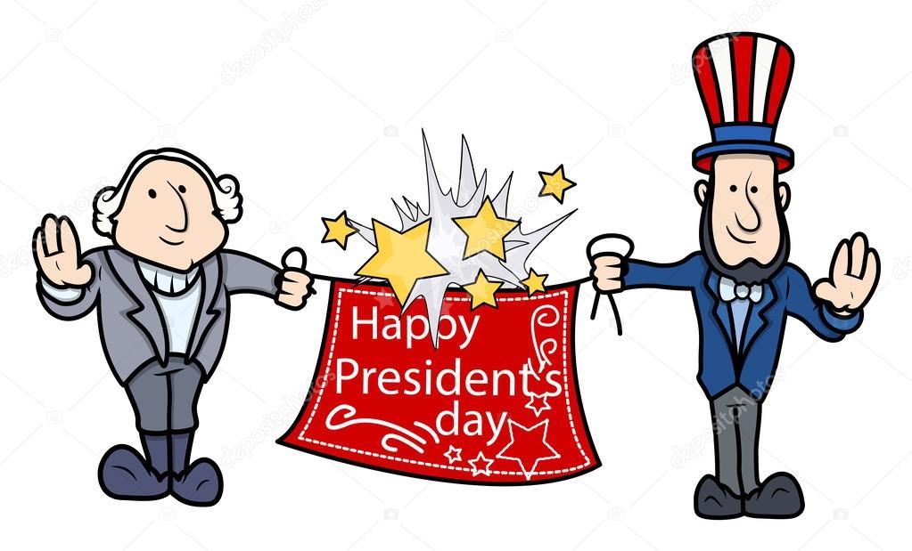george washington abraham lincoln greets presidents day vector rh depositphotos com presidents day clip art 2018 presidents day pictures clip art