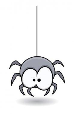 Funny spider - Halloween vector illustration