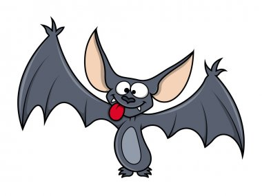 Funny bat - Halloween vector illustration