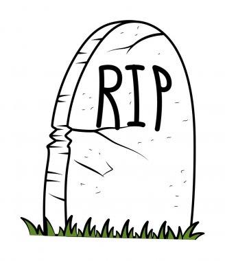 Rest in Peace - Cartoon Grave - halloween vector illustration