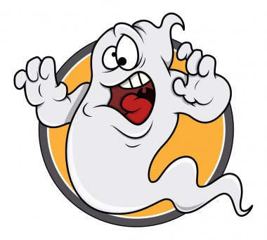 Scared ghost funny vector