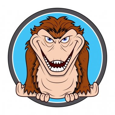 Horrible chimpanzee vector for Halloween