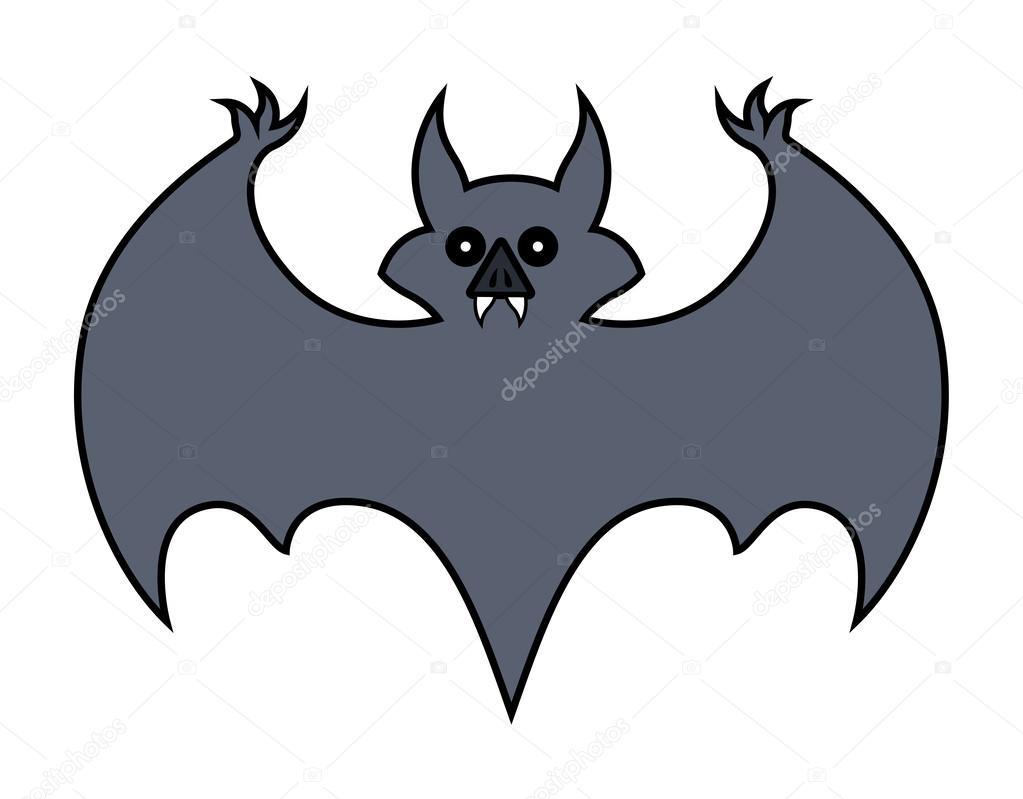desenho de morcego ilustração do vetor de halloween vetor de