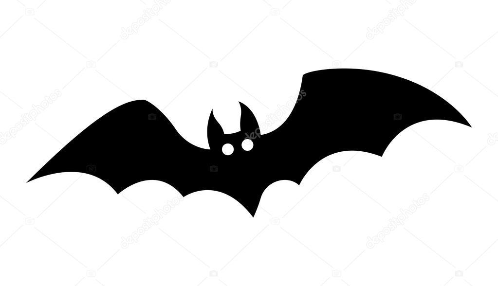 drawing art of cartoon halloween bat silhouette vector illustration vector by baavli