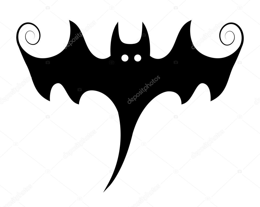 stylish bat illustration silhouettes halloween vector rh depositphotos com halloween vector art halloween vector patterns