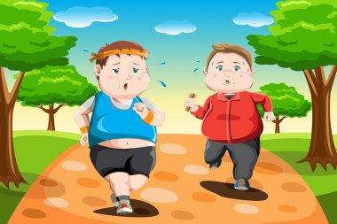 Overweight kids running
