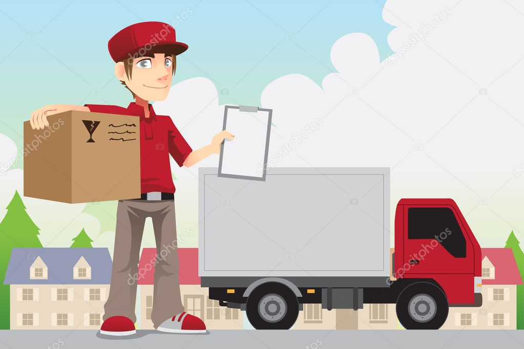 Delivery person pics, Stock Photos all sites