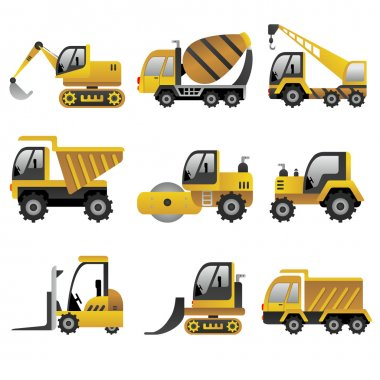 Big construction vehicles icons