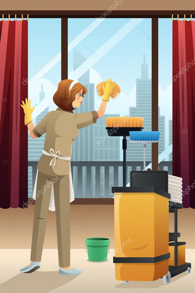Conserje de hotel limpieza de la habitaci n del hotel for Habitacion que utiliza un conserje