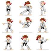 különböző pózok, a karate kölyök