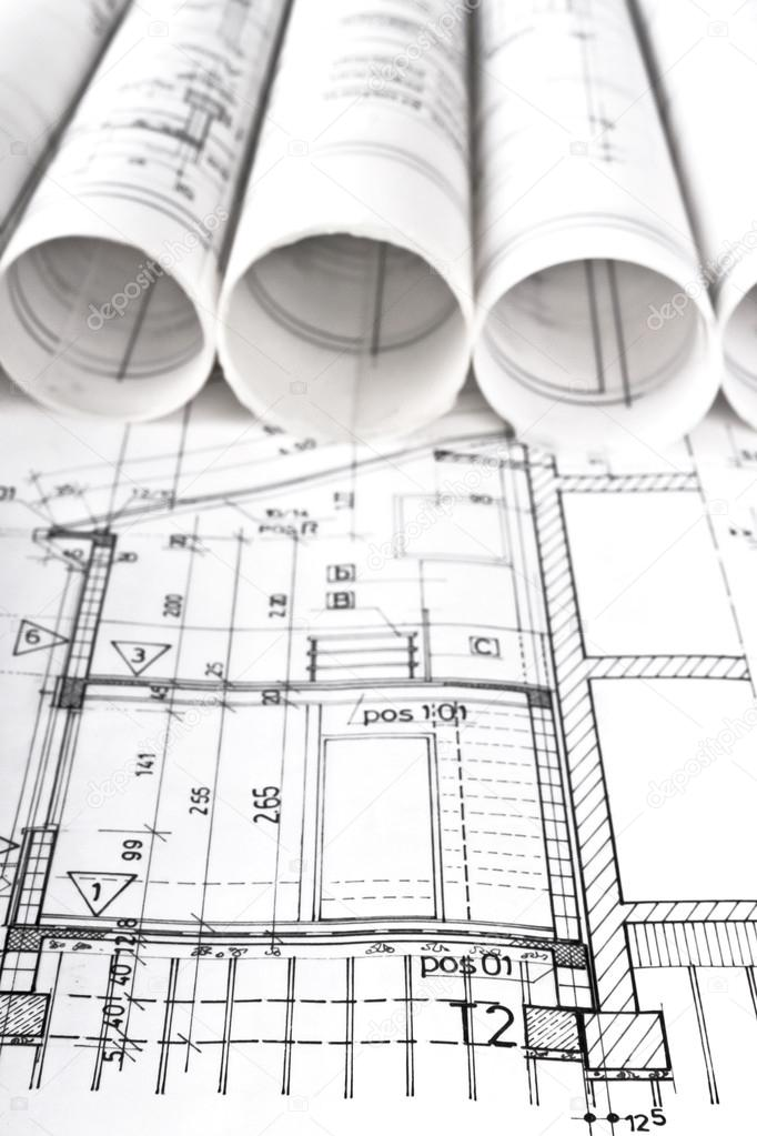 Desenhos De Projeto T Cnico De Planta Arquitet Nica
