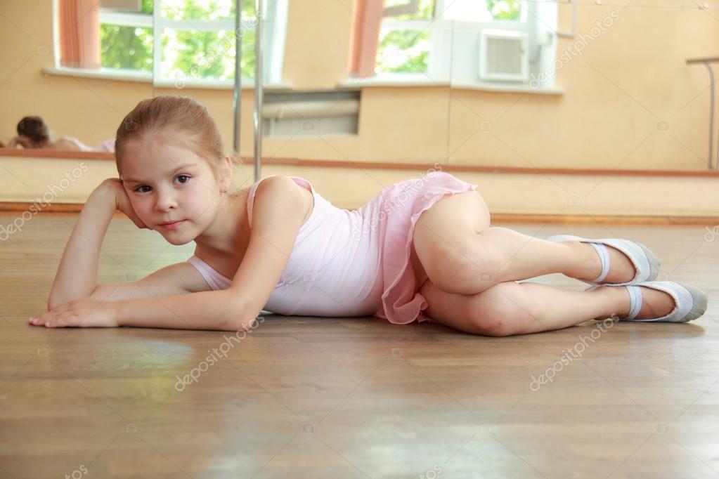 young cute gymnastic