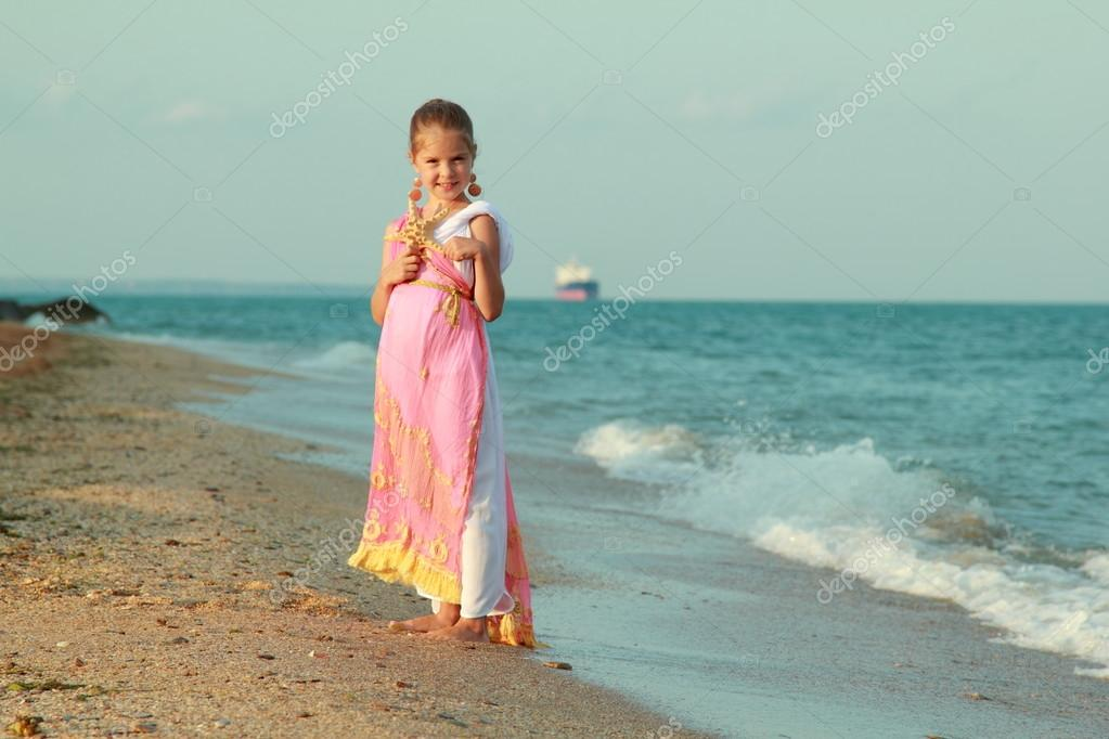 Girl dress in antique style