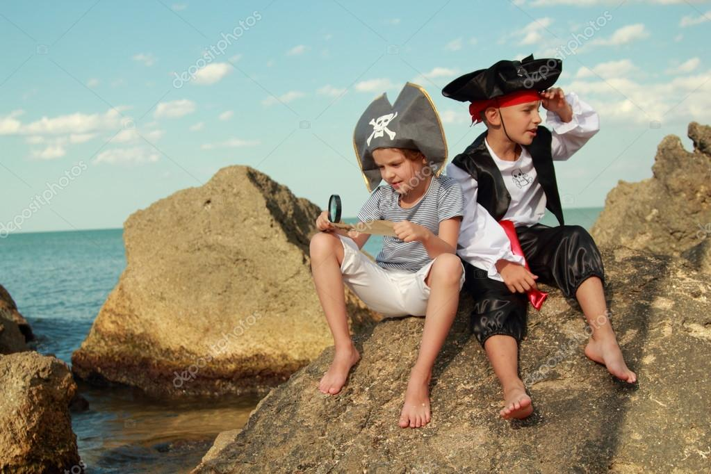 Fancy Dress Pirate on Holiday